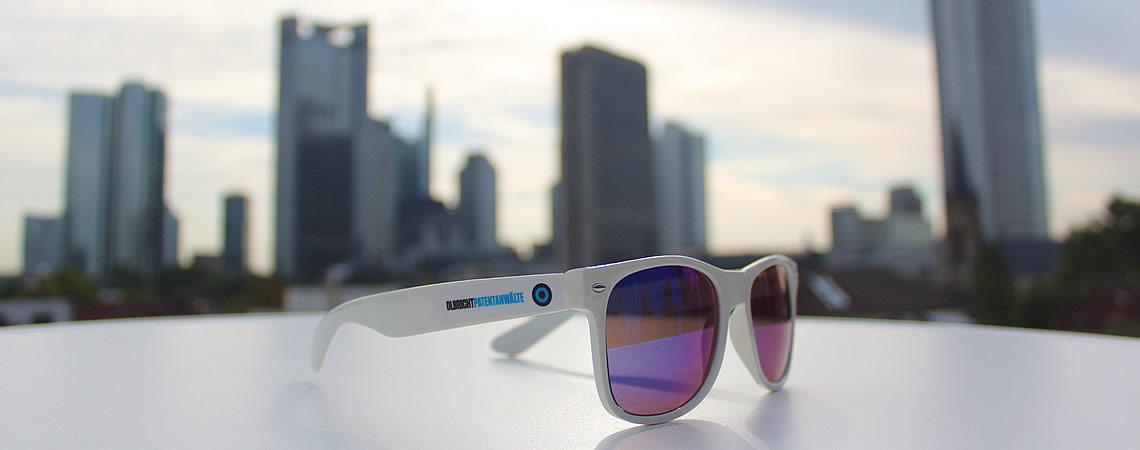 Banner Olbricht Sunglasses Frankfurt Skyline